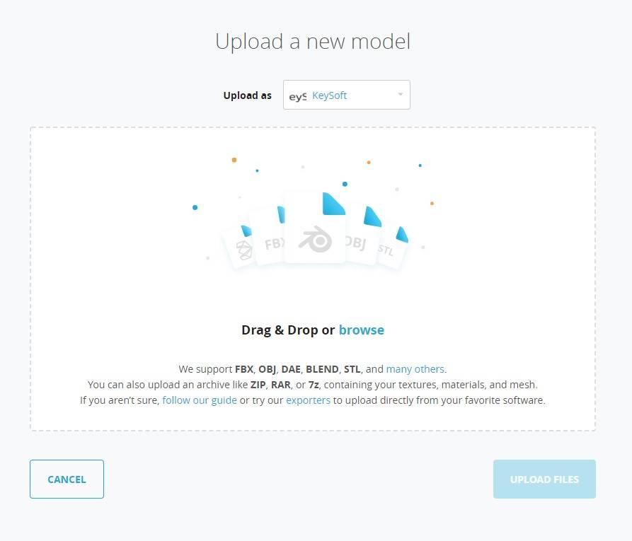 laden Sie Ihre KeyShot glb gltf Daten hoch auf Sketchfab