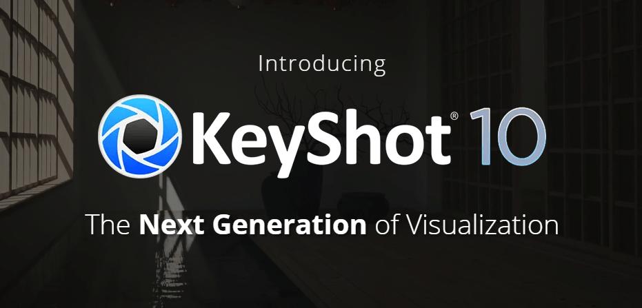 keyshot 10 logo und überblick der 10er version features