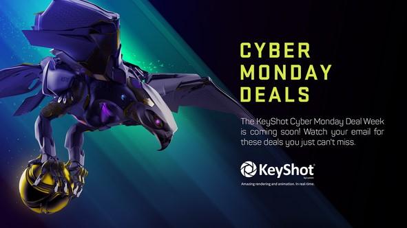 Rabatt für KeyShot 2020 Cyber Week Zeitraum