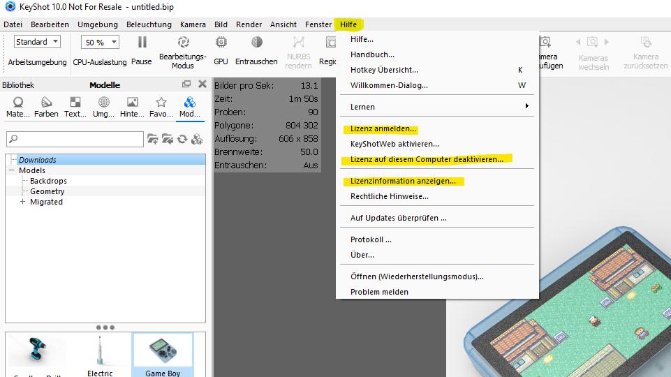 Neue Hardware bei KeyShot Lizenzen