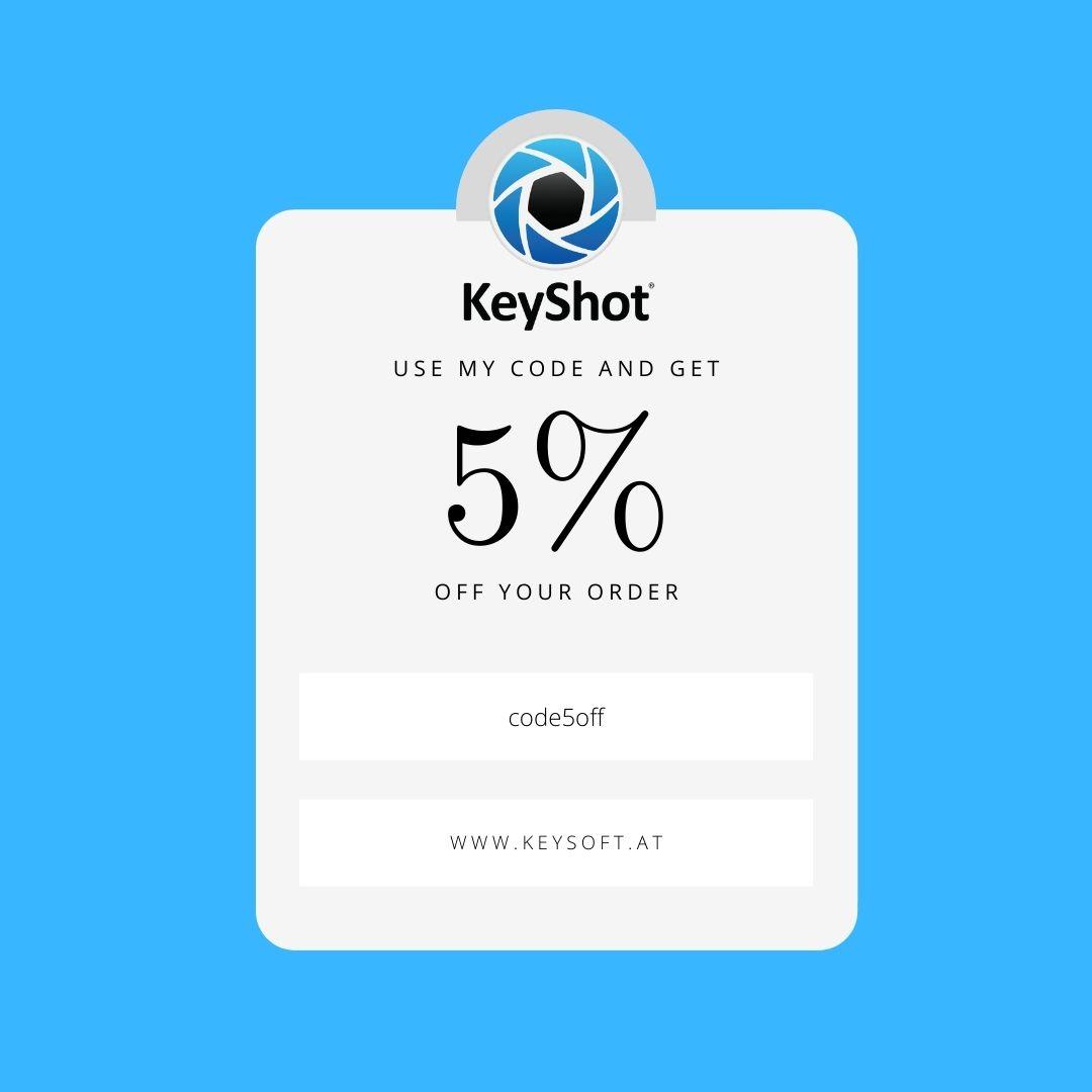 Coupon Rabatt für KeyShot alle Versionen und kostenloses Training